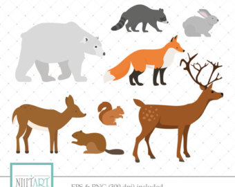 Wildlife clipart Animal Wildlife vector imagesCL009 Clipart