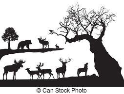 Wildlife clipart Wildlife  tree  white