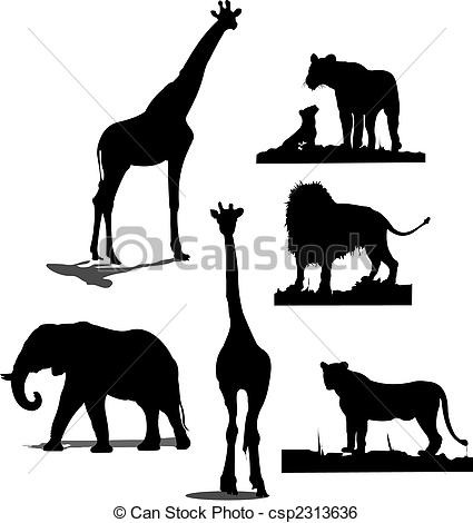 Wildlife clipart african wildlife Animal Black African silhouettes silhouettes