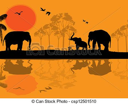 Wildlife clipart african wildlife Elephants Clip of art at
