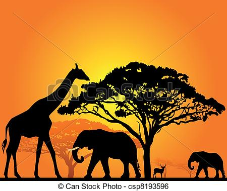 Wildlife clipart african wildlife African Art of Art black