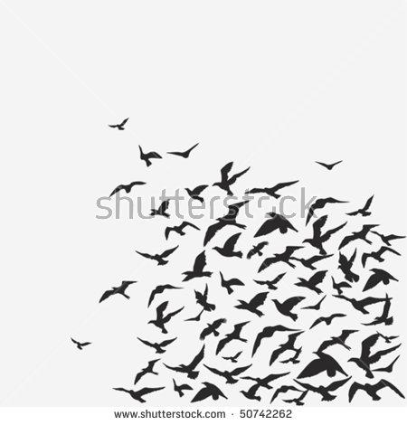 Wildlife clipart bird flock Download Flock clipart Flock Download