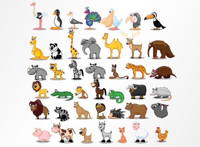 Wildlife clipart cartoon Animal Freebie Vectors Illustrations Illustrations