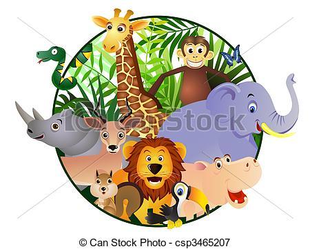 Wildlife clipart cartoon Illustration cartoon Search csp3465207 Animal