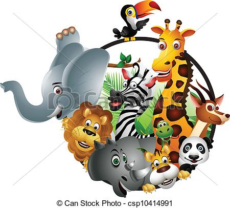 Wildlife clipart cartoon Isolated of vector wildlife wildlife