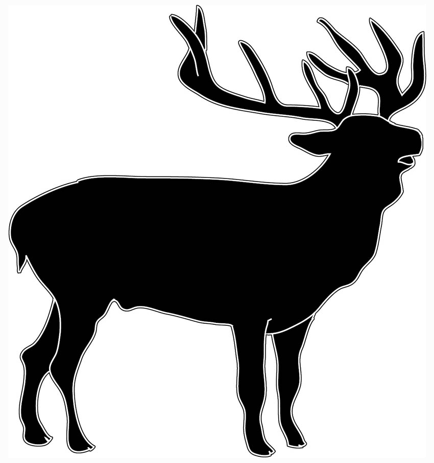 Wildlife clipart scenery Silhouette Animal deer Art stag