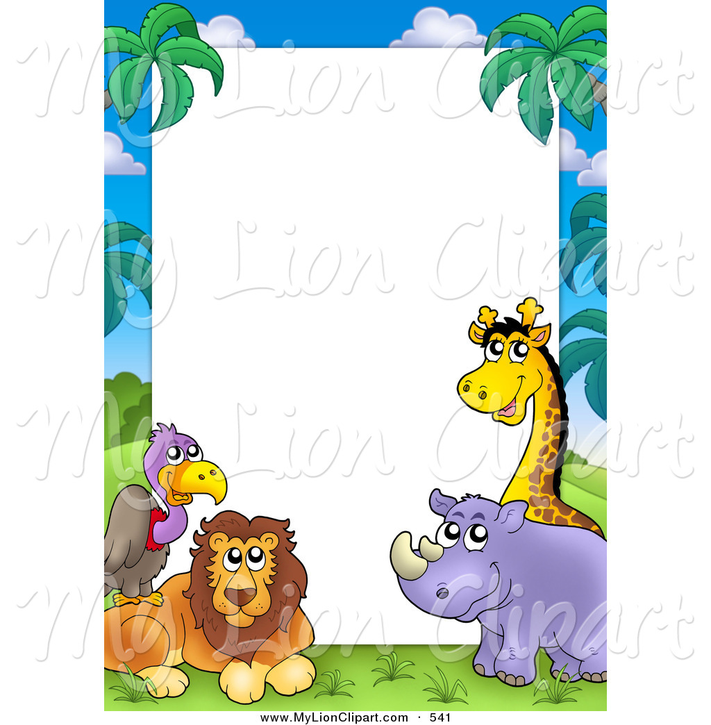 Zoo clipart border Borders Wildlife clipart borders clipart