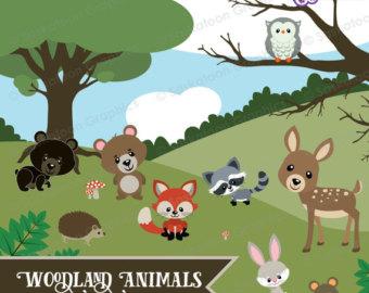 Wildlife clipart grass Art Clipart Etsy Crafts Animals