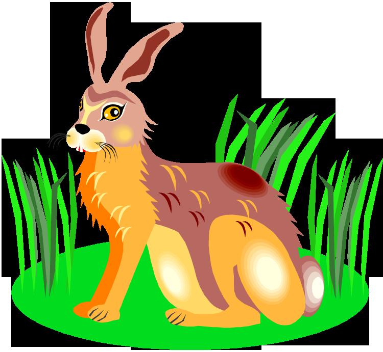 Wildlife clipart grass Grass in Rabbit Clipart Rabbit