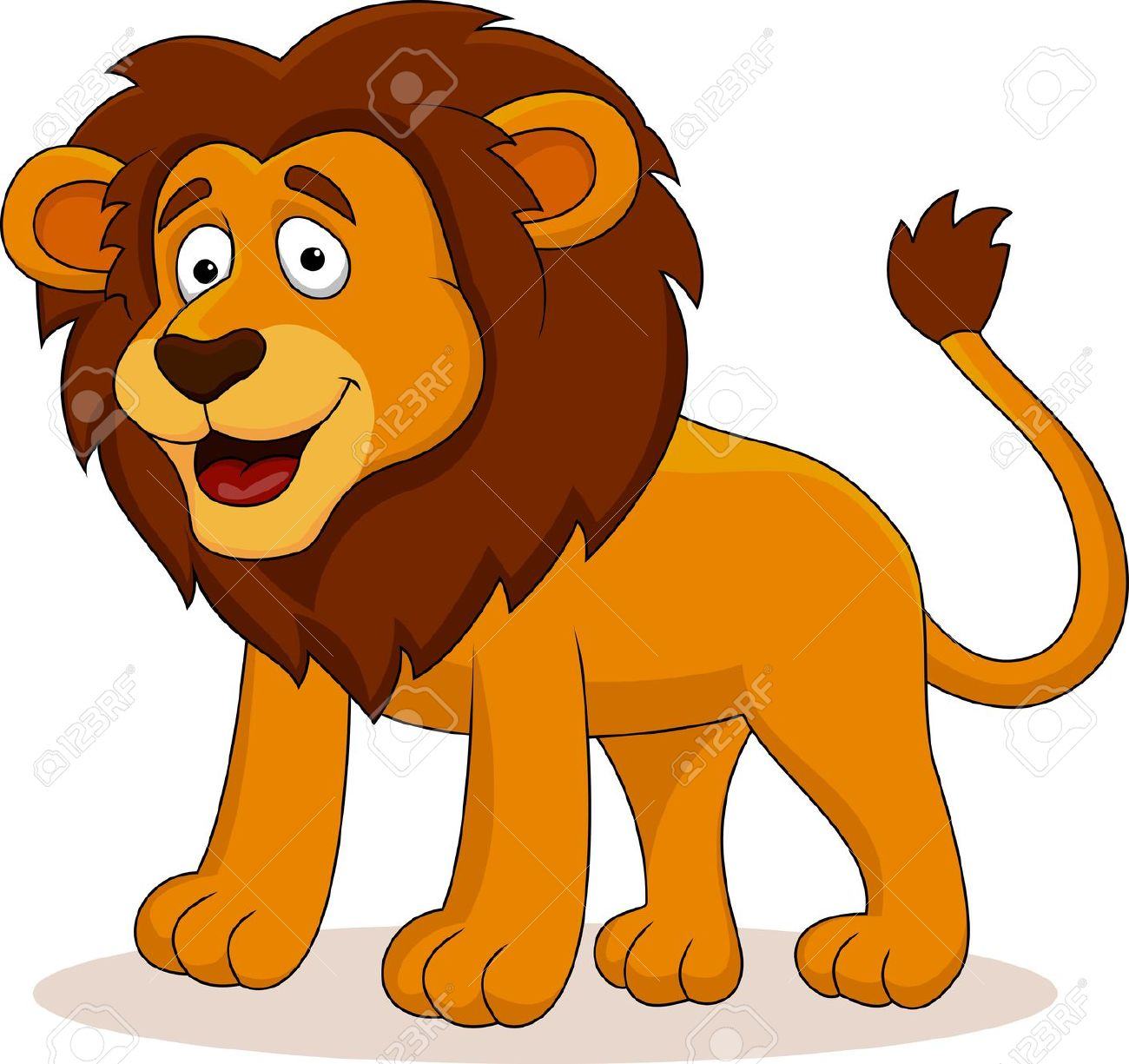 Lion clipart funny #1