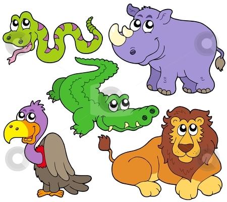 Wildlife clipart mammal Wildlife Wildlife collection vector illustration