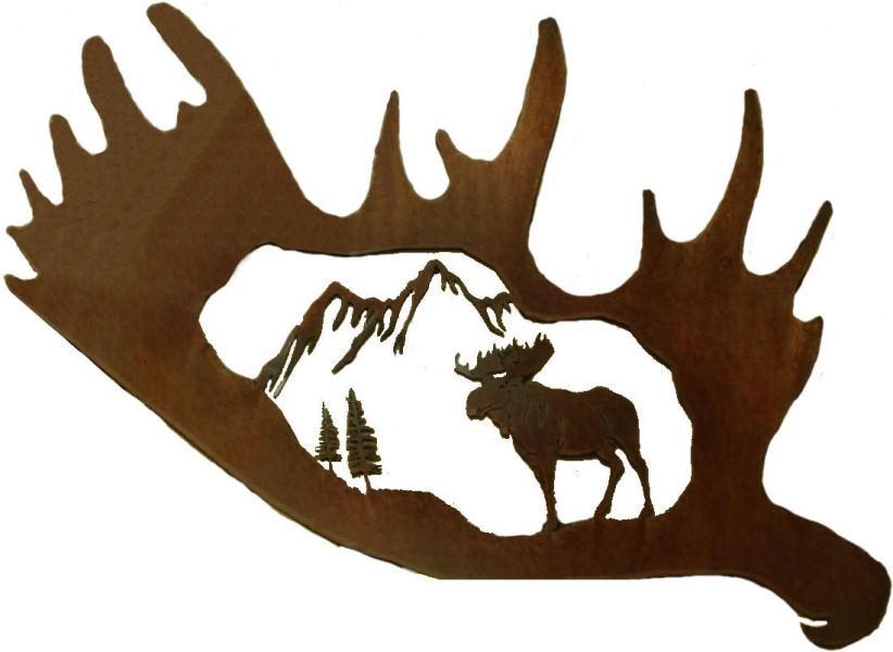 Wildlife clipart moose antler Art clip moose Clipart art