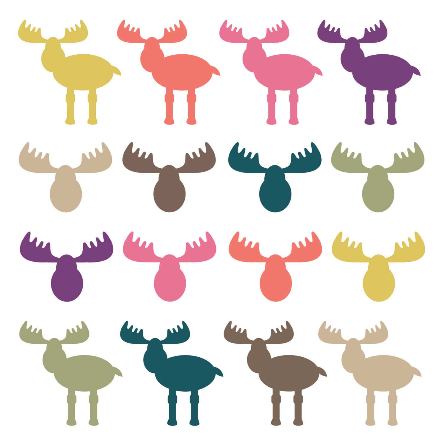 Wildlife clipart scenery And on Antlers art Moose