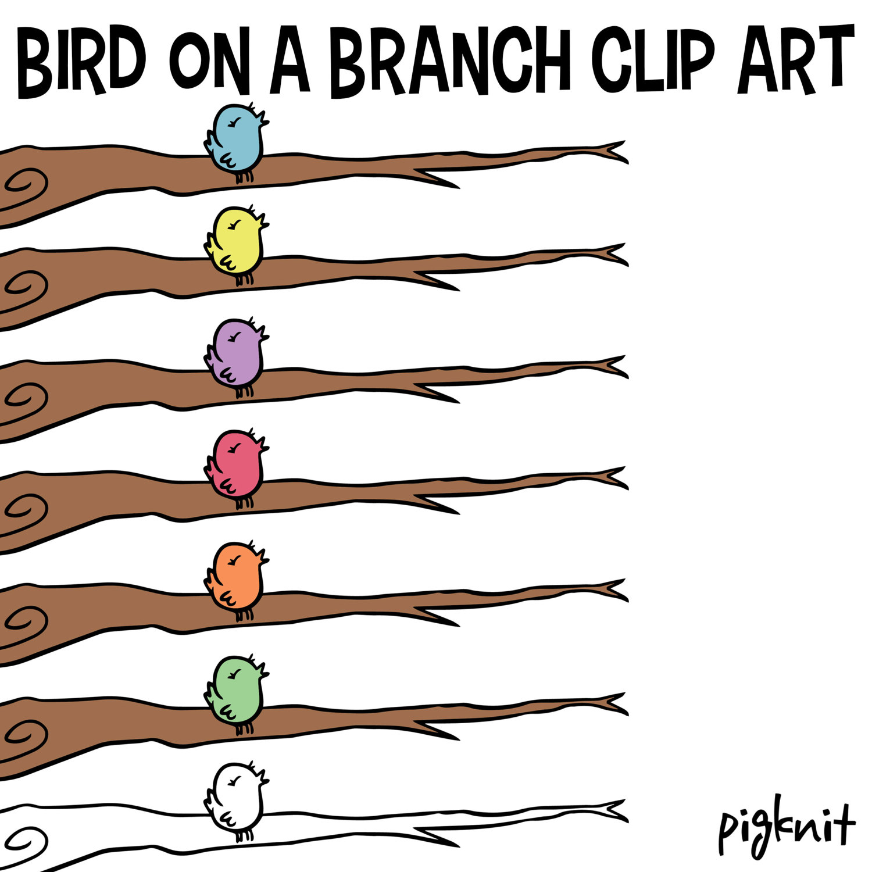 Bluebird clipart robin bird Digital file Branch Blue Branch