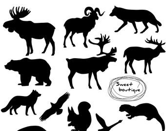 Wildlife clipart silhouette Clip silhouette Clipart Wild Silhouettes