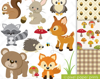 Baby Animal clipart wooden Explore by fichas and stamps