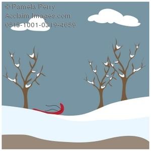 Wildlife clipart winter scene A Clip Park Illustration Winter