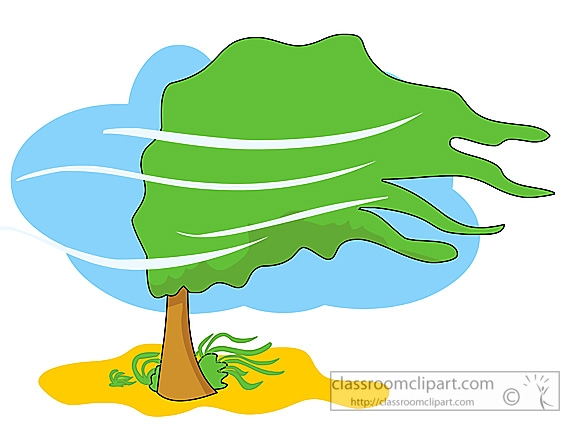 Tree clipart wind blowing #4