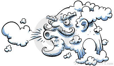 Wind clipart angry cloud (72+) Blowing wind cartoon Clipart
