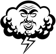 Wind clipart angry cloud Sticker line Customize vinyl on