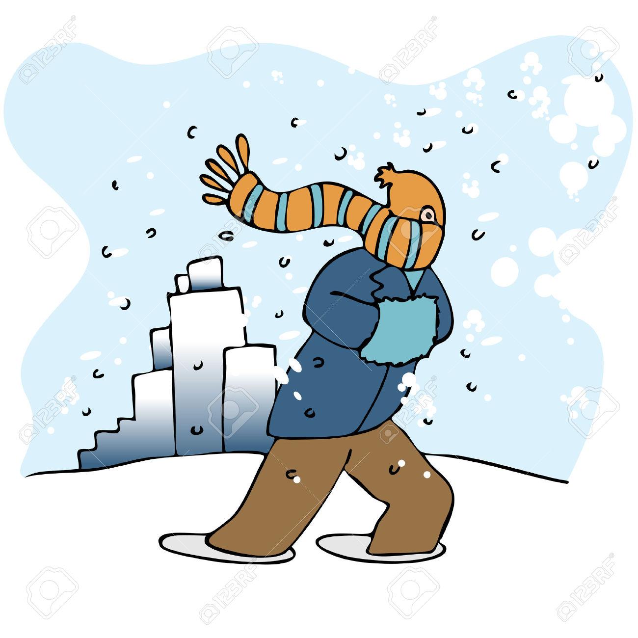 Wind clipart blizzard Blizzard In cliparts Walking Blizzard