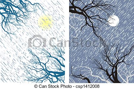 Wind clipart blizzard Night flakes  Falling wind