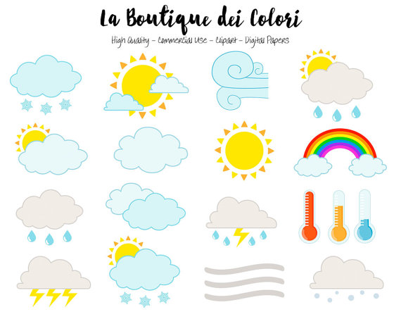 Wind clipart cute Thermometer Clouds Fog Weather Fog