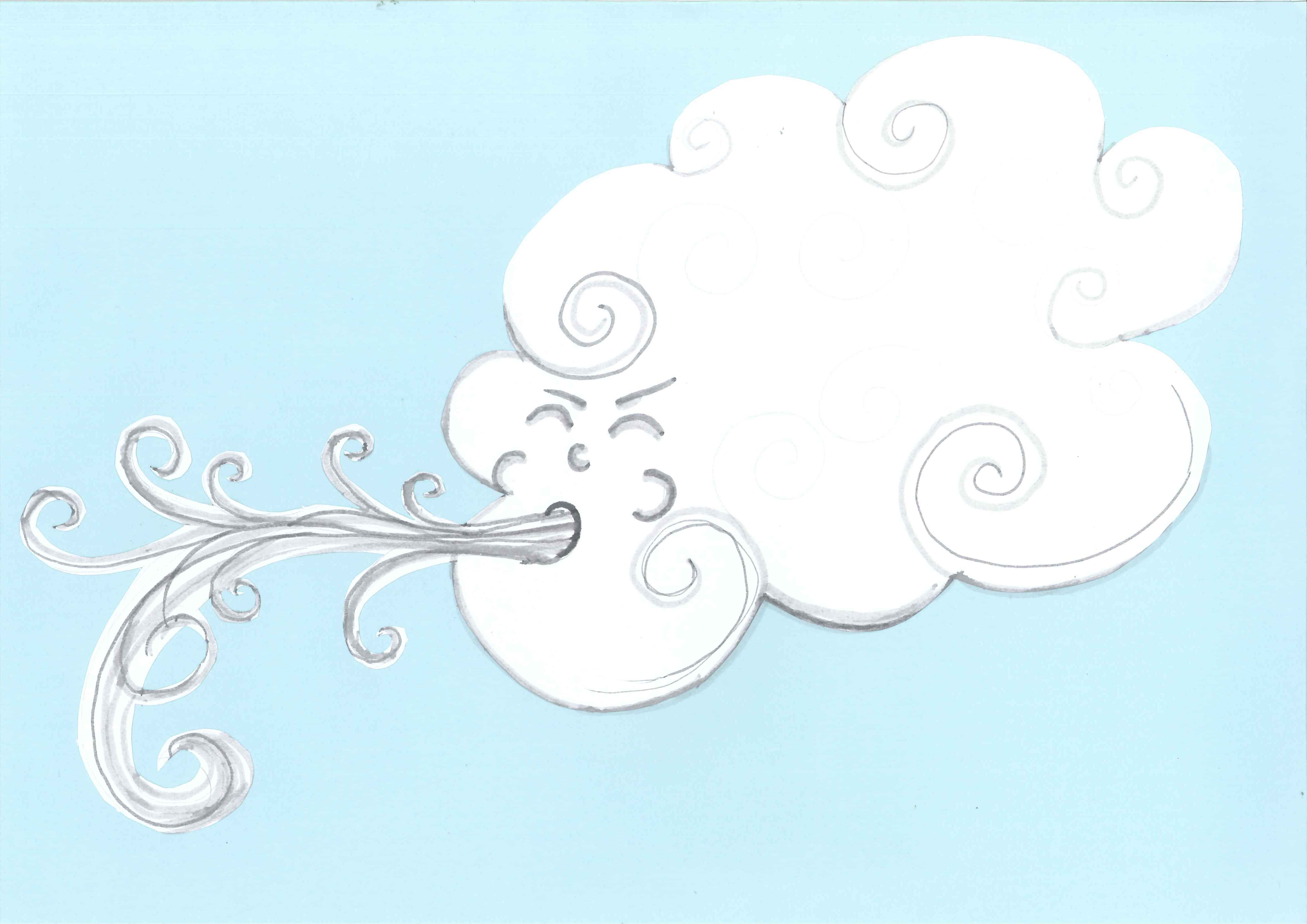 Wind clipart foggy weather Clipartion Cloudy Clipart And com