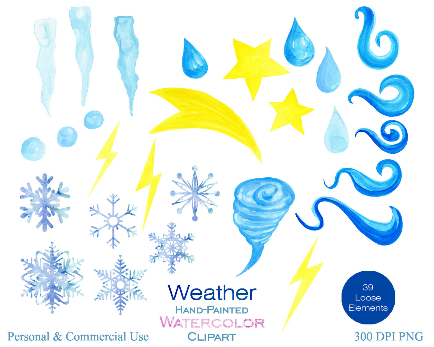 Wind clipart snowflake Photo Use Cloud Watercolor for