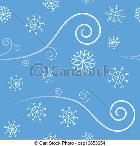 Wind clipart snowflake Snow  elegant csp10853654 Seamless