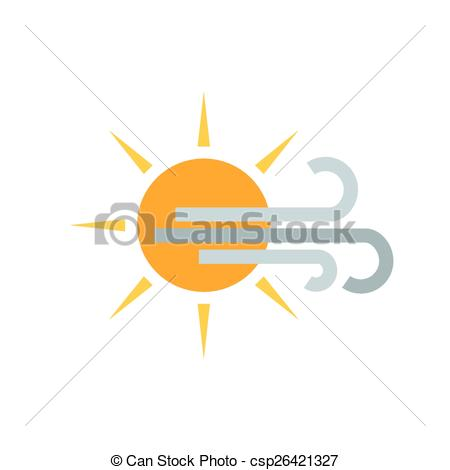 Wind clipart sunny Sunny csp26421327 Illustration  and