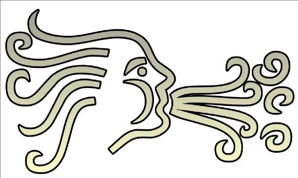 Wind clipart wind blowing Online Art Wind clip Clker