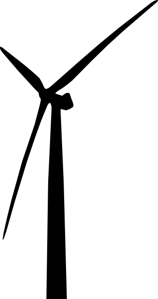 Wind Turbine clipart black and white #7