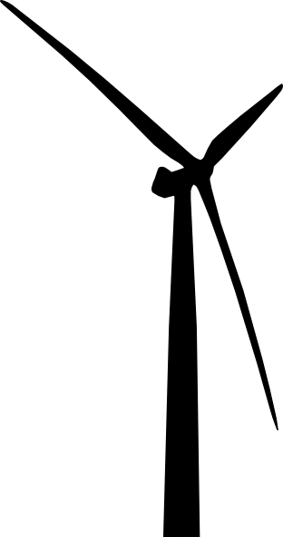 Wind Turbine clipart black and white #4