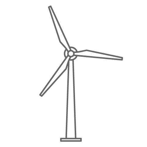 Wind Turbine clipart black and white #9