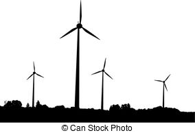 Wind Turbine clipart black and white #11