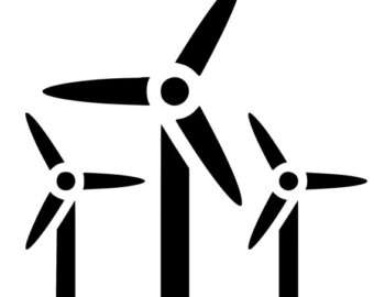 Wind Turbine clipart black and white #5