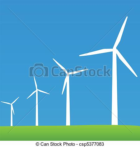 Turbine clipart power plant Vector Power Illustrations Clipart Wind