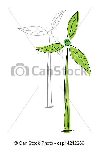 Wind Turbine clipart drawing Clipart of   csp7783306