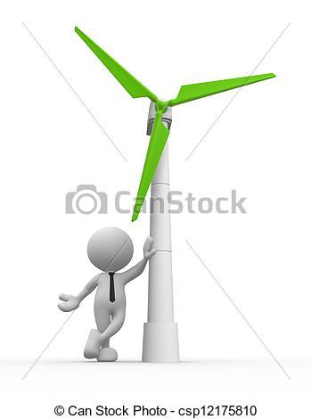 Wind Turbine clipart drawing Power Wind Stock Illustrations Wind