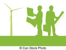 Wind Turbine clipart green energy #14