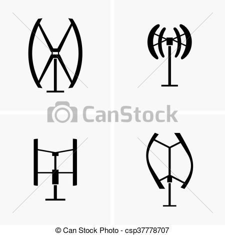 Wind Turbine clipart icon  turbines wind of Vector