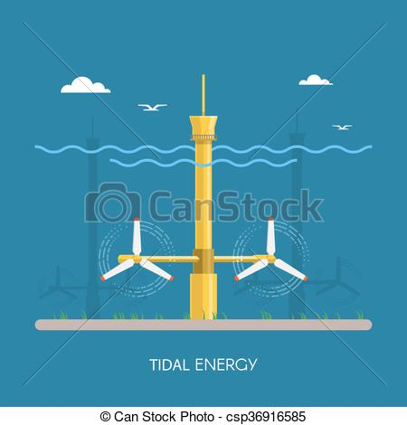 Turbine clipart power plant Green and and industrial plant
