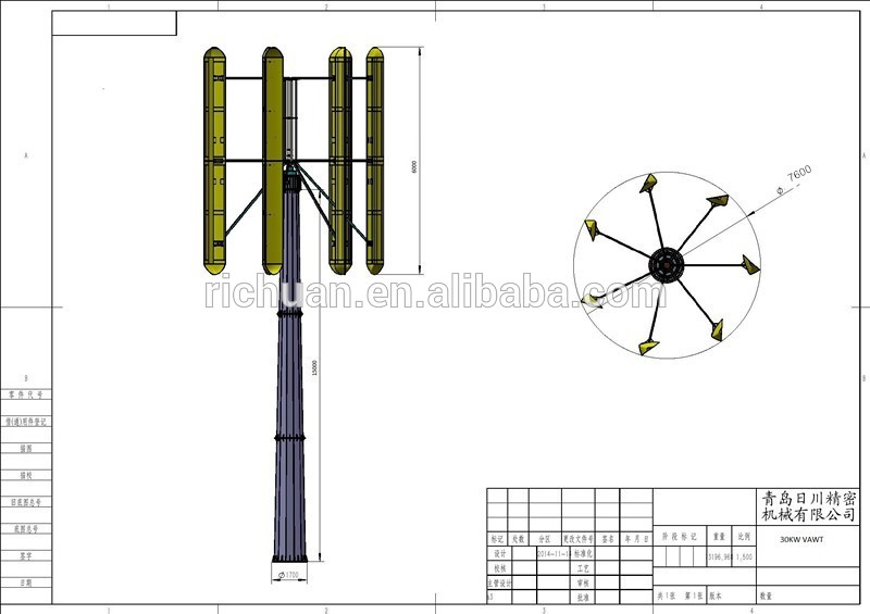 Wind Turbine clipart vertical axis #15