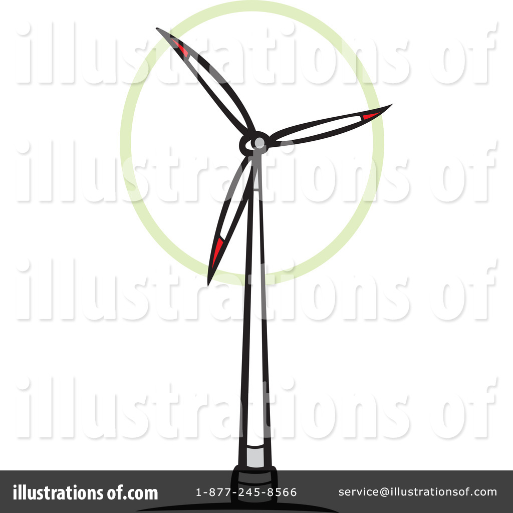 Windmill clipart wind turbine Royalty by Clipart by Turbine