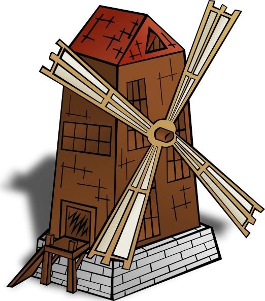 Windmill clipart holland windmill Windmill  art Free clip