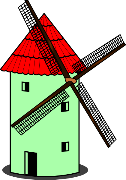Windmill clipart old fashioned  vector at Windmill Clker