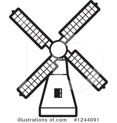 Windmill clipart old fashioned Windmill Lal #1244091 Royalty Illustration