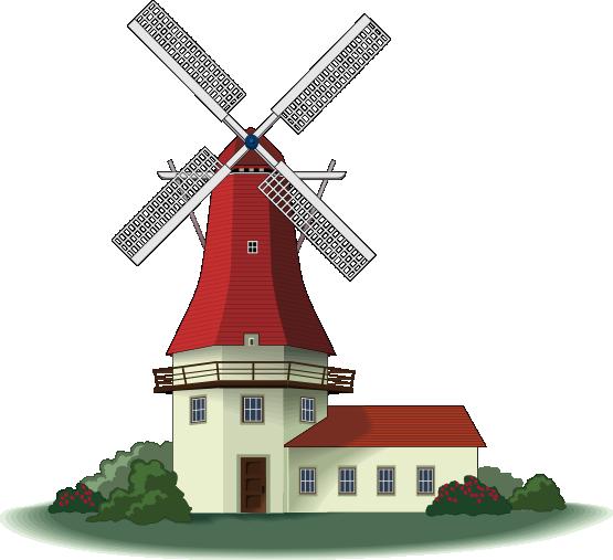 Windmill clipart Windmill Free Domain Beautiful Clip