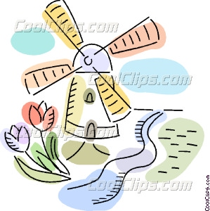 Windmill clipart dutch windmill #13